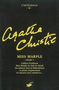 Agatha Christie : l'intégrale. Volume 2, Miss Marple (1)