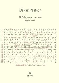 21 poèmes anagrammes d'après Hebel