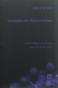 Inventaire des choses certaines : anthologie bilingue italien-français