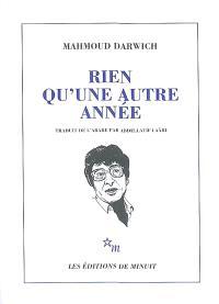 Rien qu'une autre année : anthologie poétique, 1966-1982