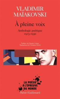 A pleine voix : anthologie poétique 1915-1930
