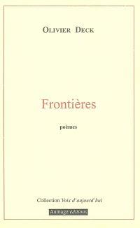 Frontières : poèmes