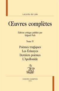 Oeuvres complètes. Volume 4