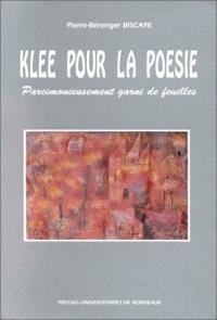 Klee pour la poésie : parcimonieusement garni de feuilles