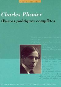 Oeuvres poétiques complètes. Volume 1, 1930-1931