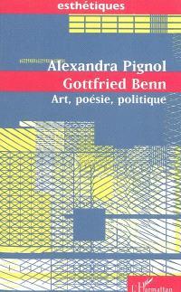 Gottfried Benn : art, poésie, politique