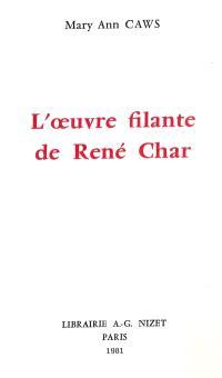 L'oeuvre filante de René Char