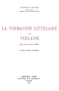 La formation littéraire de Verlaine
