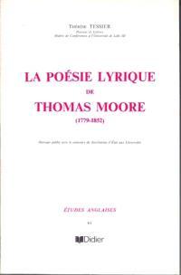La poésie lyrique de Thomas Moore