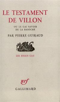 Le Testament de Villon