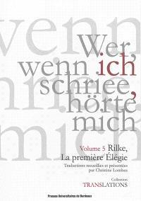 Rilke, la première élégie