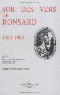Sur des vers de Ronsard : actes