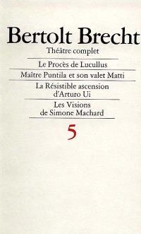 Théâtre complet. Volume 5