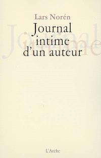 Journal intime d'un auteur