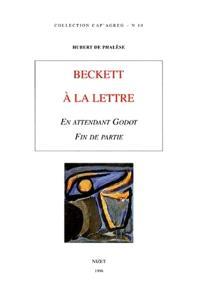 Beckett à la lettre : En attendant Godot, Fin de partie