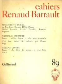 Cahiers Renaud-Barrault. n° 89