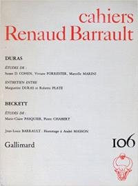 Cahiers Renaud-Barrault. n° 106, Duras, Beckett