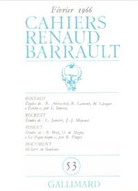 Cahiers Renaud-Barrault. n° 53, Ionesco, Beckett, Pinguet