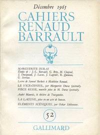 Cahiers Renaud-Barrault. n° 52, Marguerite Duras