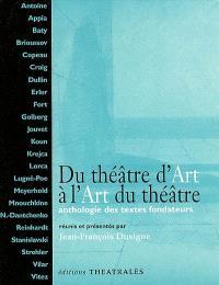 Du théâtre d'art à l'art du théâtre : anthologie des textes fondateurs