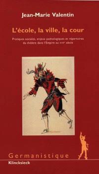 L'école, la ville, la cour : pratiques sociales, enjeux poétologiques et répertoires du théâtre dans l'Empire au XVIIe siècle