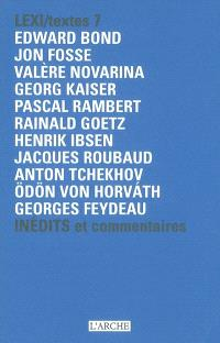 Lexi-textes : inédits et commentaires. Volume 7