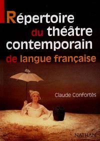 Répertoire du théâtre contemporain de langue française