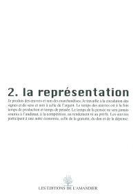 2, La représentation