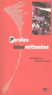 Paroles intermittentes