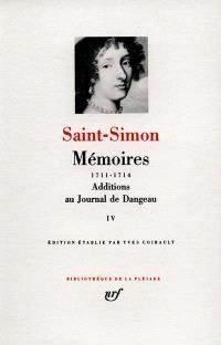 Mémoires. Volume 4, 1711-1714