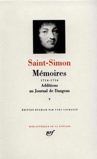Mémoires. Volume 5, 1714-1716