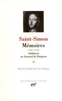 Mémoires. Volume 3, 1707-1710