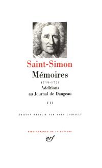 Mémoires. Volume 7, 1718-1721