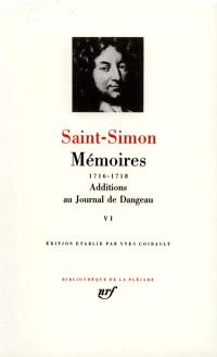 Mémoires. Volume 6, 1716-1718