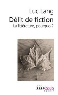 Délit de fiction : la littérature, pourquoi ?
