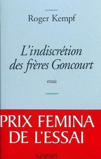 L'indiscrétion des frères Goncourt