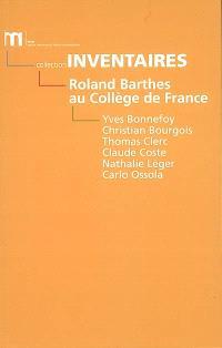 Roland Barthes au Collège de France : 1977-1980