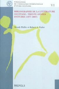 Bibliographie de la littérature occitane : trente années d'études, 1977-2007