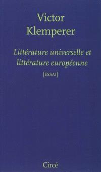 Littérature universelle et littérature européenne