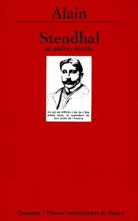 Stendhal : et autres textes