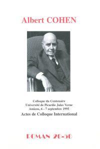 Albert Cohen : actes de colloque international