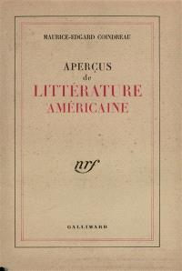 Aperçus de littérature américaine