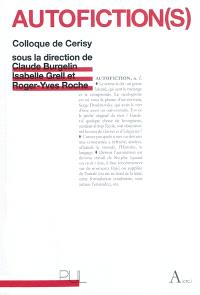 Autofiction(s) : colloque de Cerisy-la-Salle