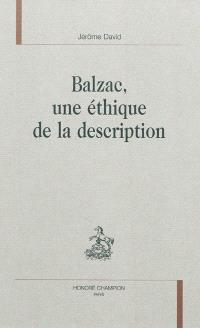 Balzac, une éthique de la description