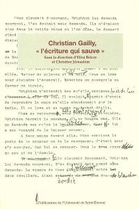 Christian Gailly, l'écriture qui sauve