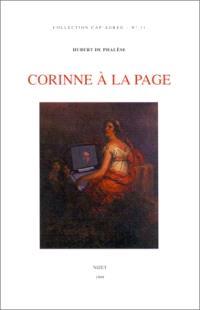 Corinne à la page : analyse du roman de Mme de Staël Corinne ou L'Italie