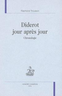 Diderot jour après jour : chronologie