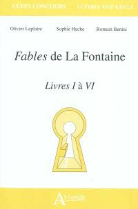 Fables de La Fontaine, livres I à VI