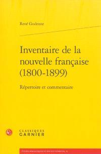 Inventaire de la nouvelle française (1800-1899) : répertoire et commentaire
