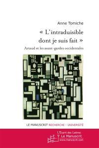 L'intraduisible dont je suis fait : Artaud et les avant-gardes occidentales